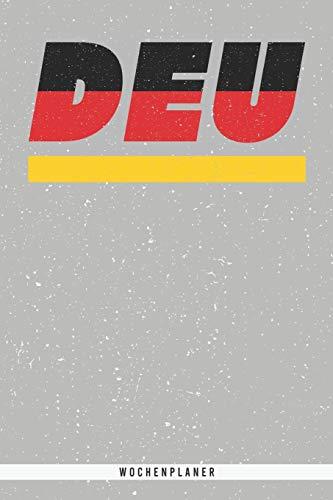 DEU: Deutschland Wochenplaner mit 106 Seiten in weiß. Organizer auch als Terminkalender, Kalender oder Planer mit der deutschen Flagge verwendbar