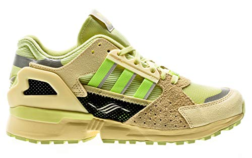 adidas Originals ZX 10,000 C, Yellow Tint-hi-Res Yellow-Easy Yellow, 5