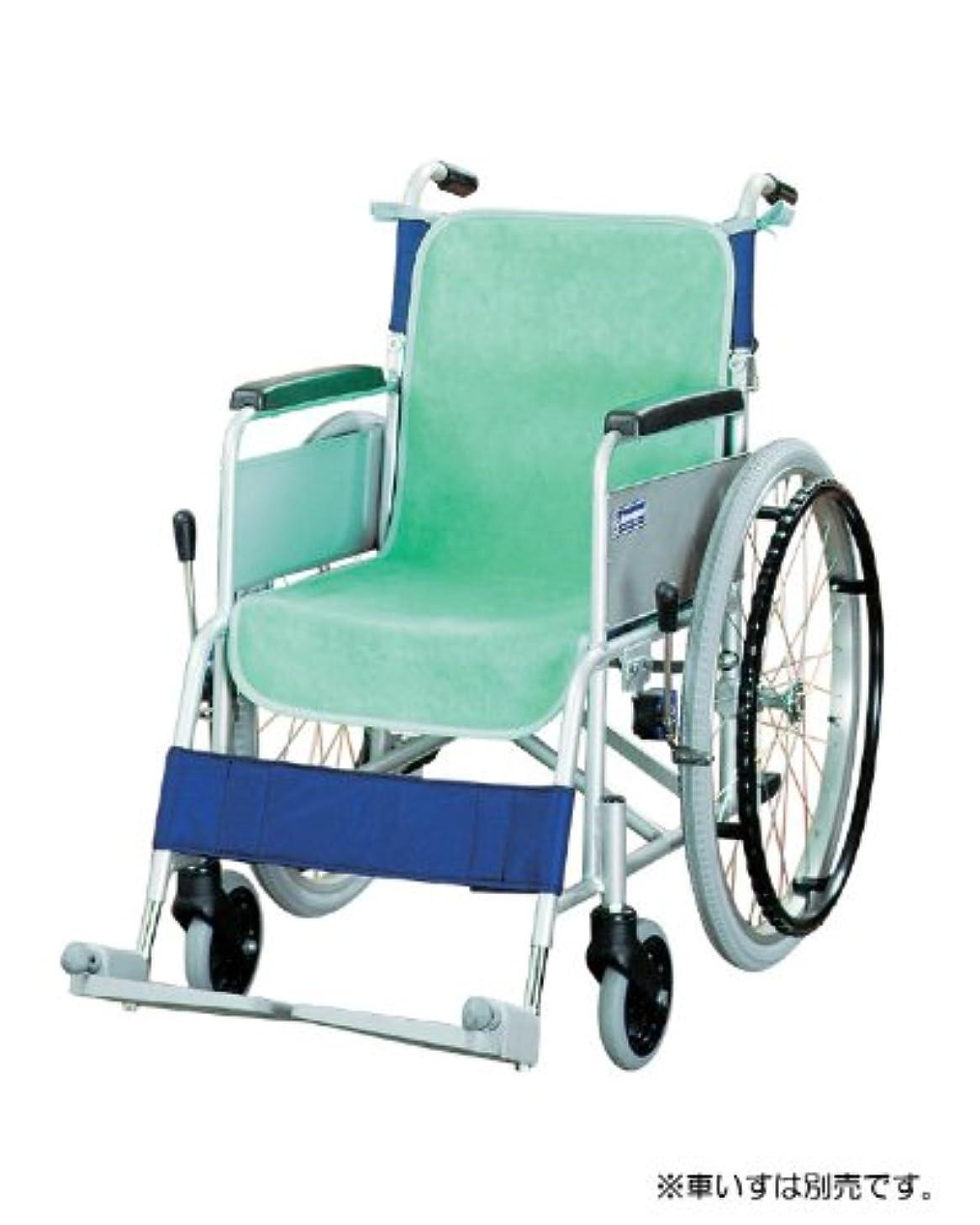 専ら枕使役車椅子シートカバー(防水タイプ)2枚入 グリーン