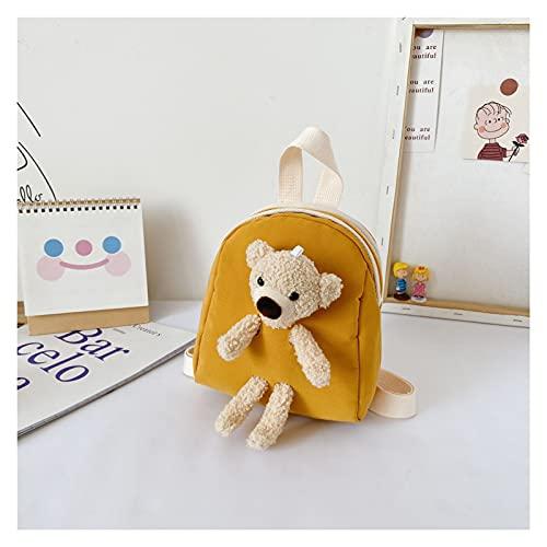 Pink Peach XUNYUAN versión coreana de la bolsa de peluche para niños, mochila pequeña de dibujos animados para niños y niñas, bolsa escolar YY (color amarillo)