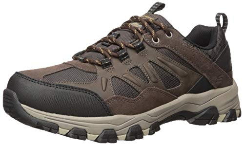 Skechers Men's SELMEN-ENAGO Trail Oxford Hiking Shoe, Chocolate, 11.5 Extra Wide US