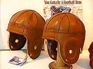 Brown Imitation Leather Football Helmet (1920s-1940s)