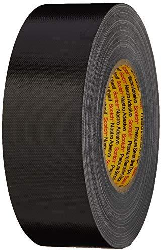 3M Premium Gewebeklebeband 389, schwarz, 50 mm x 50 m (1-er Pack)