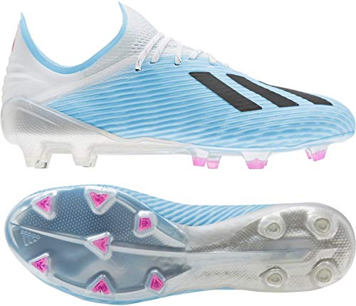 adidas Herren X 19.1 Fg Fußballschuhe, Blau (Bright Cyan/Core Black/Shock Pink Bright Cyan/Core Black/Shock Pink), 45 1/3 EU