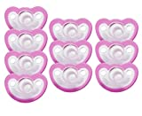 JollyPop 0-3 Months Pacifier 10 Pack Unscented - Pink