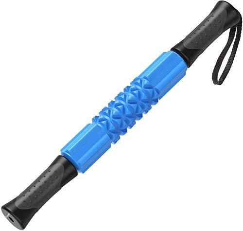 Sportneer Massageroller Muskel Roller Stick, Handheld Eva Foam Roller Muskelmassagestift für Läufer/Sportler Linderung von Muskelkater Krämpfe und Enge