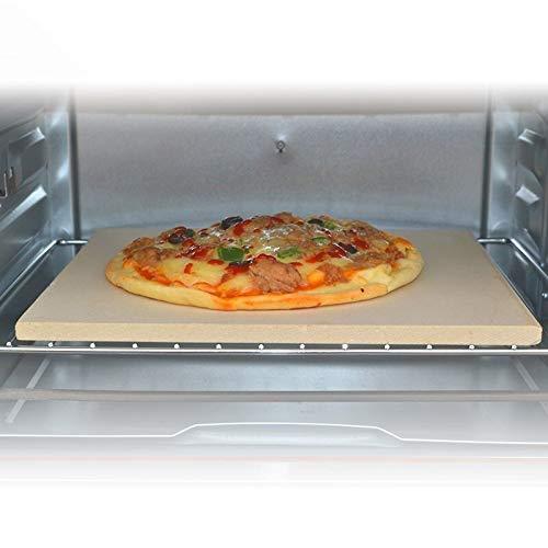 DZLXY rechthoek pizzasteen, Cordierite pizzasteen grillsteen, pizzasteen om te bakken, het beste om te bakken en te serveren, BBQ, grill, bakkoekjes