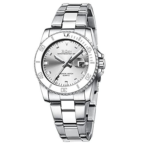 Damen Uhren Analog Quarz Armbanduhr Edelstahl Uhr für Frau mit Edelstahlarmband Frauen Uhr