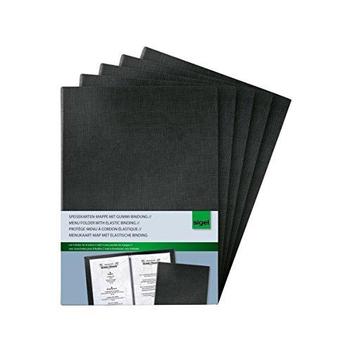 Sigel SM115 - Carpeta para menús, negro