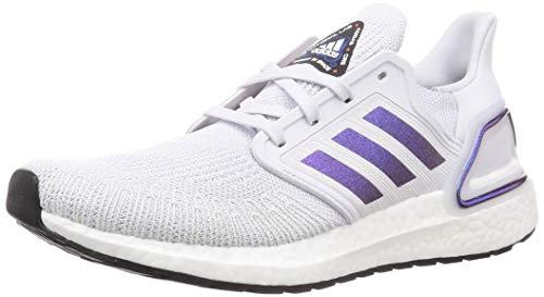 adidas Herren Ultraboost 20 Laufschuhe, Gray (Dash GRAU/Violet BLAU MET./CORE Boost SCHWARZ), 42 2/3 EU