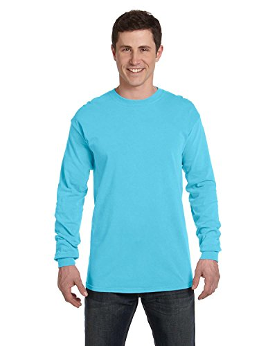 Comfort Colors 6014 Adult Heavyweight Ringspun Long Sleeve T-Shirt - Lagoon Blue - M