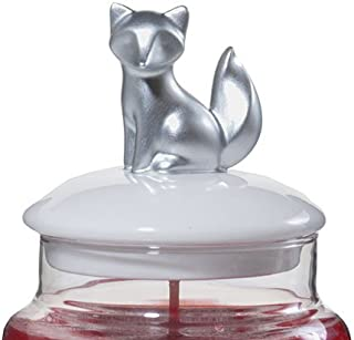 Yankee Candle Holiday Ceramic Silver Fox Jar Topper