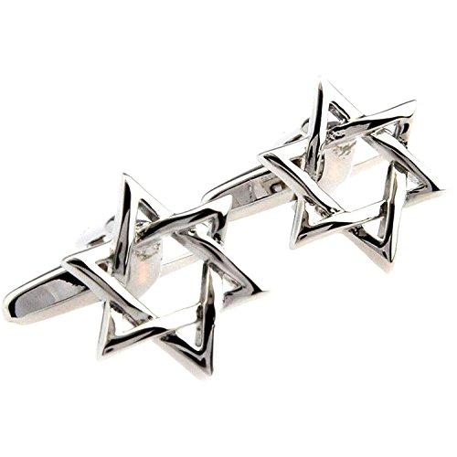 Star of David Shield Manschettenknöpfe Design von David Men'Shirt s Fashion Jewelry Manschettenknöpfe Geschenk Party Hochzeit