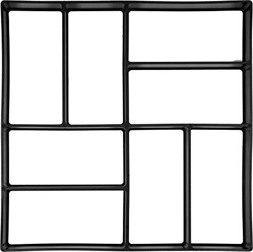 VOREL Pflasterform für Rechteck-Pflaster, mit 8 Kammern, 40 x 40 x 4 cm, stabiles und langlebiges PP-Material für den häufigen Gebrauch, Pflaster Schablone Gießform Gehweg Form Beton Steine