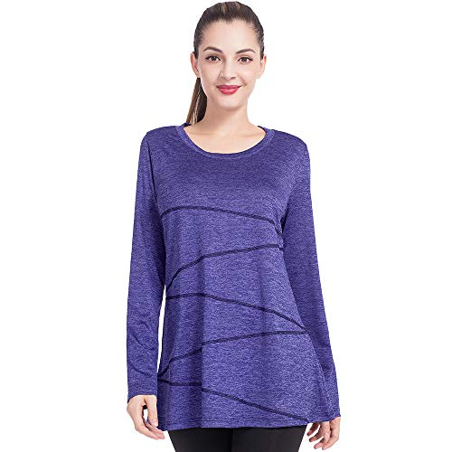 ☀ 95% Durable Polyester & 5% Stretch Spandex ☀ Durable for wearing and washing with well flex. Comfy and soft fit but keep in supportive shape. Hand washes recommended or in Laundry bag, would help to keep the low-priced Pullover Gym Shirts durable. ...