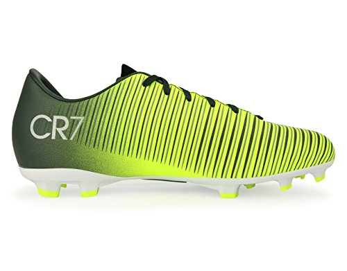 Nike Kids Mercurial Victory VI CR7 FG Seaweed/Volt/Hasta/White Soccer Shoes - 10C