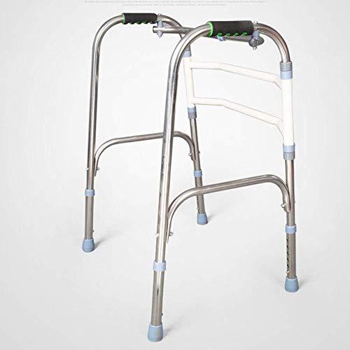 LXDDJZXQ Andador para Ancianos Walker, Andador de Aluminio Plegable Ligero Que Conduce el Andador médico, Mayor del Acero Inoxidable, Doble Rueda Plegable del Caminante con Ruedas