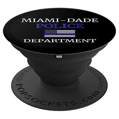 Miami Dade Polizei dünne blaue Linie USA Flagge - PopSockets Ausziehbarer Sockel und Griff für Smartphones und Tablets