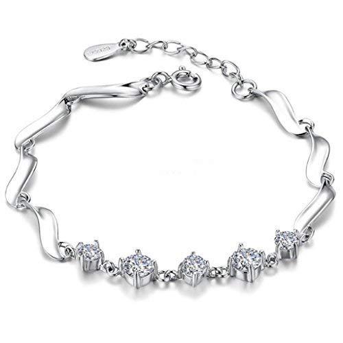 SataanReaper presenta Angelic, auténtica pulsera de plata de ley con tachuelas de cristal austriaco #SR-1095