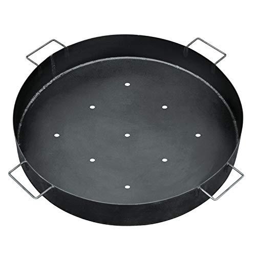 bellissa Kohlenschale emailliert - 95585 - Grillschale aus emailliertem Stahlblech für Gabionen-Feuerstelle - Durchmesser 65 cm, Höhe 10 cm