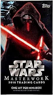 Star Wars Masterwork 2016 Trading Card Mini Box [1 Pack]