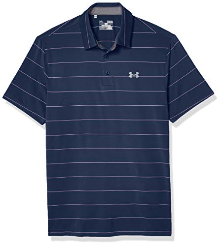 Under Armour Men's Playoff Polo, Academy (454)/Mediterranean, Medium