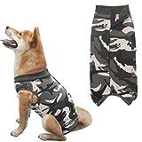 GuangLiu Pijamas para Perros Pequeños Traje De Recuperación para Gatos Camiseta médica para Perros Traje quirúrgico para Perro después de castrar Green,2XL