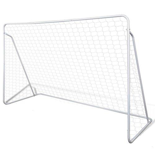 vidaXL Set de But Football avec poteaux et Filet 240 x 90 150 cm