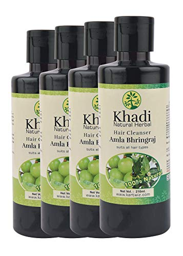 Khadi Natural Herbal Amla and Bhringraj Shampoo (840 ml)