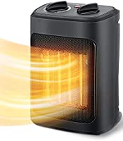 Space Heater, 1500W Electric Heaters Indoor Portable with Thermostat , PTC Fast Heating Ceramic Room Small Heater with...