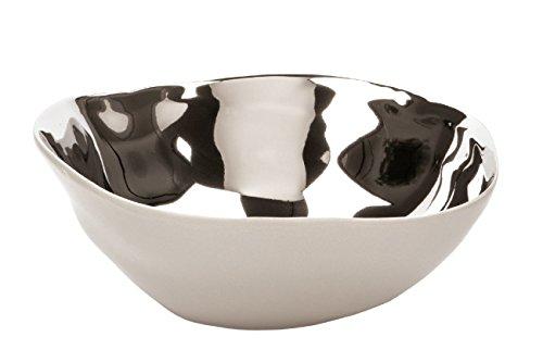 Fink Conca/Schale,Keramik,Greige-Silber/D.23cm,H.8,5cm