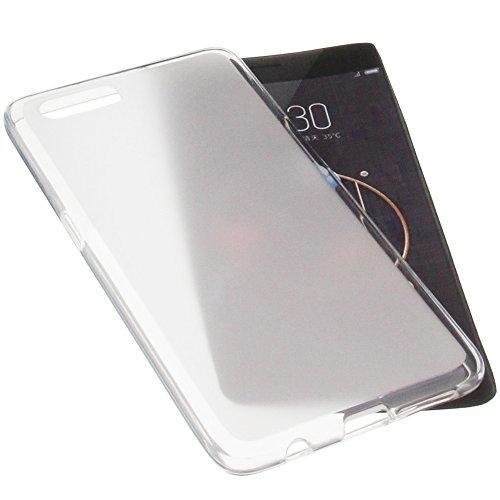 foto-kontor Tasche für ZTE Nubia M2 Gummi TPU Schutz Handytasche transparent weiß