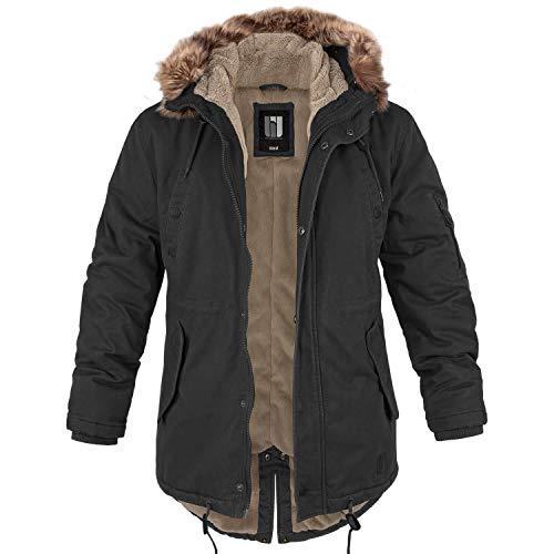 bw-online-shop Winterparka Fishtail mit Futter schwarz - 3XL