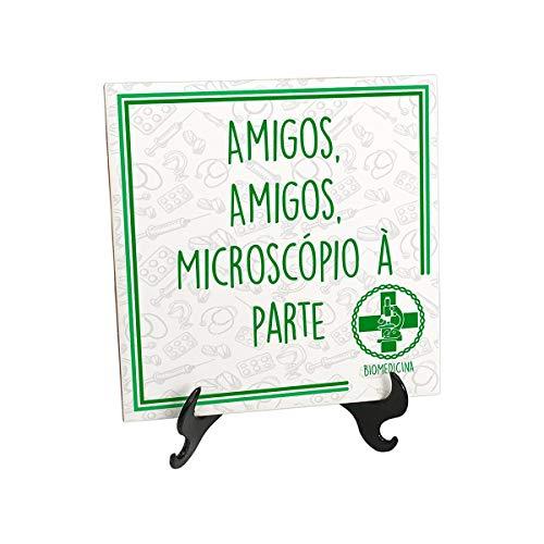 Quadro Azulejo Biomedicina Frase Amigos Microscópio À Parte