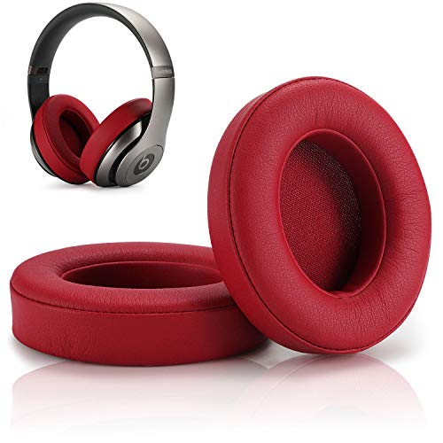 Replacement Earpad Cover,Cypher.V Ear Cushion Pads Compatible with Beats Studio 2.0 Wireless Wired and Studio 3.0 Headphones by Dr.DRE 1 Pair (Wine Red)