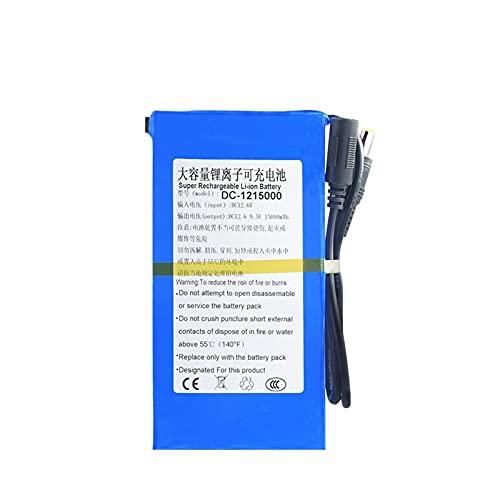 TTCPUYSA 12v 12.6v 4800/6800/8000/9800/15000/20000mah DC Batería De Iones De Litio De Litio, Paquete De Batería Recargable + Interruptor De Encendido/Apagado BMS DC-121500