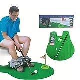 Campo de WC-Putt Putting cuarto de baño determinado del juego del mini campo de golf de la novedad Set Set-práctica del golf en el WC
