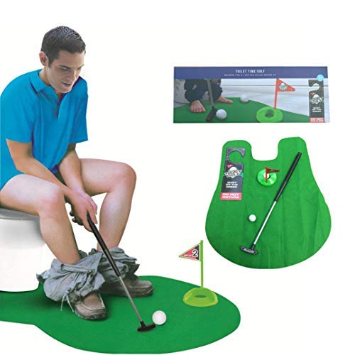 Potty Putter Set Bathroom Game Novelty Set, Play Golf on The Toilet