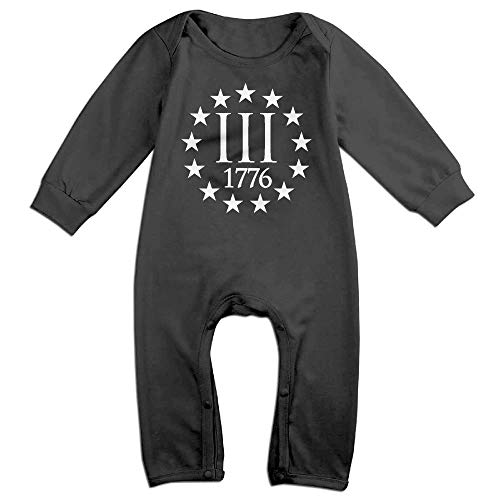 SDGSS Combinaison Bébé Bodysuits Three Percenter 1776 Symbol Baby Romper for 6-24m Baby