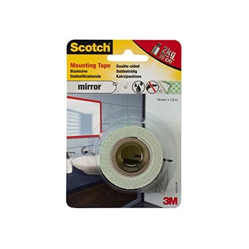Scotch 42156 Nastro Biadesivo per Specchi, Bianco, 19 mm x 1.5 m