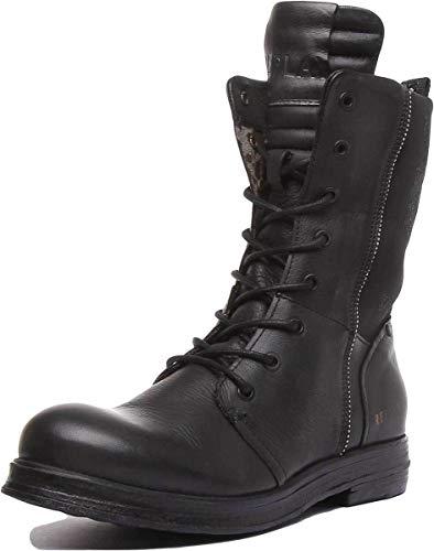 Replay Damen Fastback Biker Boots, Schwarz (Black 3), 36 EU