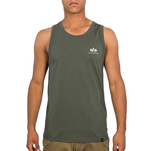 ALPHA INDUSTRIES Herren Tank Tops Small Logo Olive XL