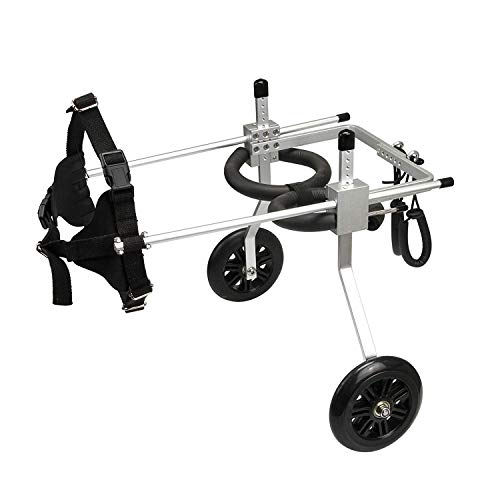 Anmas Home Adjustable Dog Wheelchair for Small Dogs Hip Height 13'-16', Wheelchair for Back Legs...