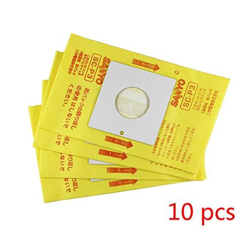 Zealing 10 Stks Compatibel Met Sanyo Stofzuiger Accessoires Papieren Tas Stofzak Vuilniszak SC-Y100 / 620 / Y108