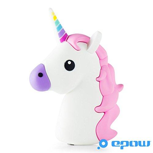 EPOW® Cargador Unicornio 2600mAh Emoji Power Bank Unicornio, Cargador Externo del Banco de la energía Compatible con iPhone, Samsung