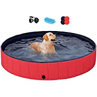 Yaheetech Foldable Hard Plastic Extra Large Dog Pet Bath Swimming Pool