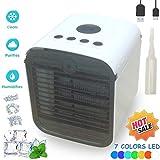 Climatiseur Mobile Air Mini Cooler - Rafraichisseur d'air & Ventilateur, 3-en-1...
