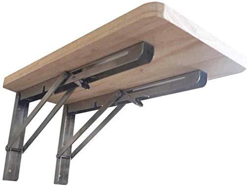 KAISIMYS Escritorio de Montaje en Pared Plegable, Mesa de Banco de Trabajo Escritorio de computadora montado en la Pared Material de Madera Banco de Trabajo montado multifunción, OneColor-40X40, Onec