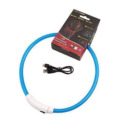 Pasabideak Hunde Leuchthalsband LED Hundehalsband Leuchtband 70cm, Aufladen per USB