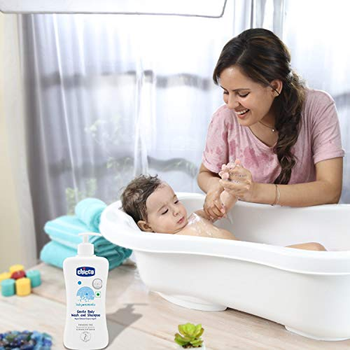 Chicco Baby Moments Gentle Body Wash And Shampoo For Soft Skin And Hair, Dermatologically Tested, Paraben Free (500ml)